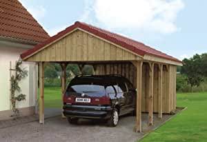 Skan Holz Carport Sauerland 430 x 900 cm