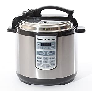 Charles Jacobs Large 8 Litre 7in1 Electric Pressure Cooker - Brushed Stainless Steel - 17 Programs