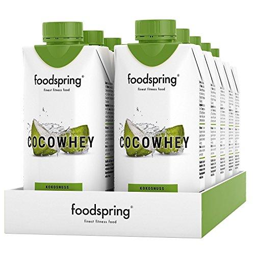 Das Wasser Der Kokosnuss-milch (foodspring CocoWhey mit Kokosnuss, 12x330ml, Erfrischender Protein-Drink mit Kokoswasser, Hergestellt in Deutschland mit sorgfältig ausgewählten Rohstoffen)