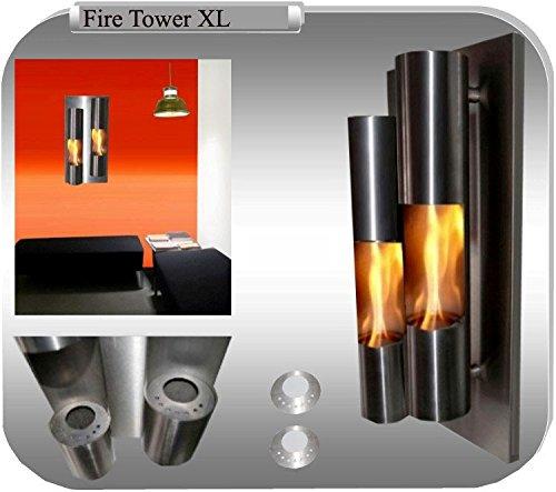 Gel- und Ethanolkamin Kamin Fire Tower Edelstahl - Wählen Sie aus XL / XXL (XL)