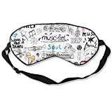 Music Set Soul Silk Sleep Eye Mask Flexible & Breathable Blindfold With Adjustable Strap