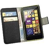 yayago Praktische Book-Style Tasche in Schwarz mit Kartenfächern für Nokia Lumia 630