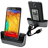 Galaxy Note 3 Charger, Galaxy Note 3 Battery Charging Station, Slook USB 3.0 Dual Sync Desktop Charging Docking Station Cradle - Support Charging Spare Battery for Samsung Galaxy Note 3 Dock