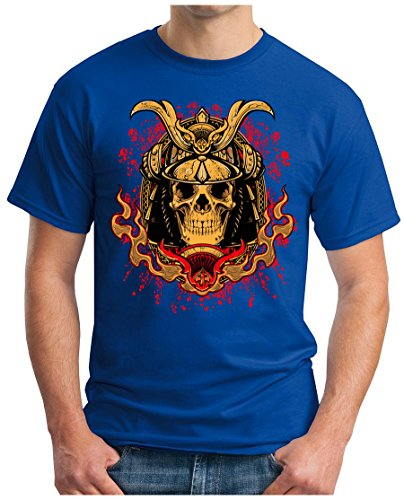 OM3 - ROYAL-SKULL - T-Shirt GEEK, S - 5XL Royalblau
