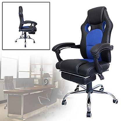 51b0abu8MlL. SS416  - huigou HG® Silla Giratoria De Oficina Gaming Chair Apoyabrazos Acolchados Premium Comfort Silla Racing De Carga Altura Ajustable