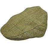Casquette plate en tweed authentique neuf disponible en clair et foncé en tweed. Fabriqué en Angleterre Disponible en XS (56cm), S (57cm), M (58cm), L (59cm), XL (60cm), XXL (61cm), XXXL (62cm) Très confortable et résistant duponttm Teflon® Fa...