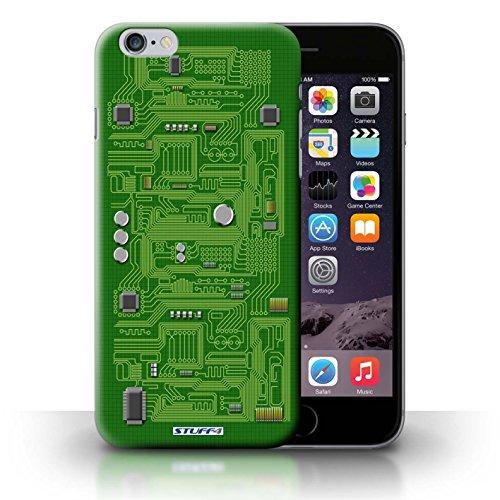 KOBALT® Hülle Case für iPhone 6+/Plus 5.5 | Rot Entwurf | Leiterplatte Kollektion Grün