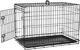 AmazonBasics Cage pliante en métal avec 1porte pour chien TailleM