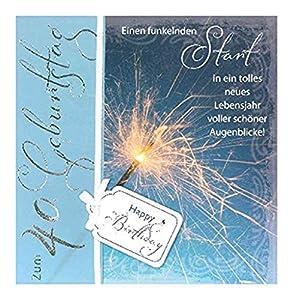 Depesche 4907.002Tarjeta de felicitación Emotions en diseño Elegante, 40. Cumpleaños