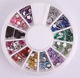Nails Gaga 3d Nail Art Tips/Glitters Flower Rhinestones Beads Nail decorations