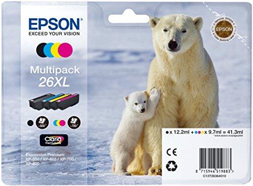 epson xp 620 Epson Original T26 Tintenpatrone Eisbär, Multipack 4-farbig XL