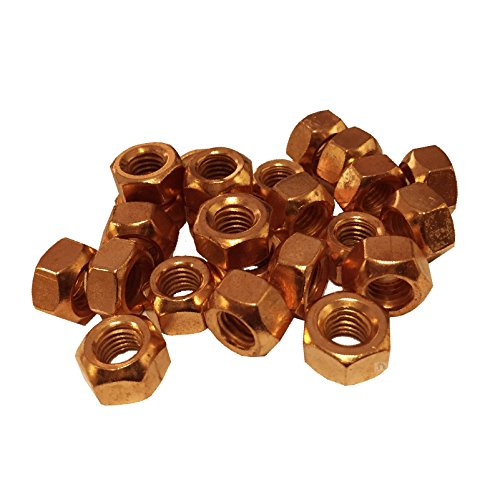 Preisvergleich Produktbild 20 x Kupfer Blitzte Auspuff Vielfältige Muttern M8 x 1.25 Pitch Hochtemperatur