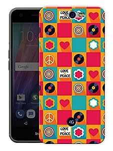 "Humor Gang Peace Disc Retro Colorful Printed Designer Mobile Back Cover For ""Google Infocus M812"" (3D, Matte Finish, Premium Quality, Protective Snap On Slim Hard Phone Case, Multi Color)"