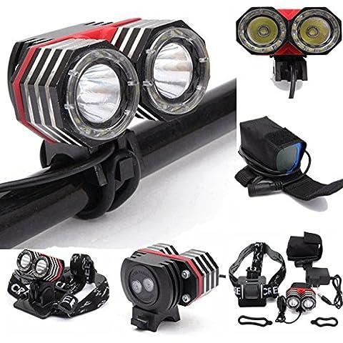 2XT6 XM-L linterna linterna antorcha lámpara bicicleta bicicleta linterna de luz