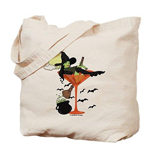 (CafePress–Halloween Martini Girl–Leinwand Natur Tasche, Reinigungstuch Einkaufstasche Tote S khaki)