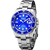 kimuk azul Dial Cerámica Bisel luminoso marca Submariner mecánico automático para los hombres de las mujeres de plata reloj