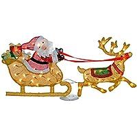 Beleuchteter Schlitten Weihnachtsdeko.Suchergebnis Auf Amazon De Für Beleuchtete Weihnachtsmann Rentier