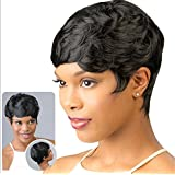 ATOZWIG New Short Hair Wigs For Black Women Black and Short Curly Synthetic Wigs Perruque Synthetic Women Wigs