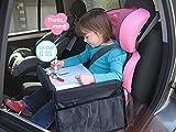 Plateau de voyage étanche pour enfants - À fixer sur le siège enfant dans la voiture - Pour jouer, apprendre ou manger - Dans le train et dans l'avion, lors des voyages à l'intérieur ou à l'extérieur - Mustone