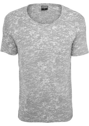 Melange Burnout Tee shirts Urban Classics Streetwear Uomo Grey