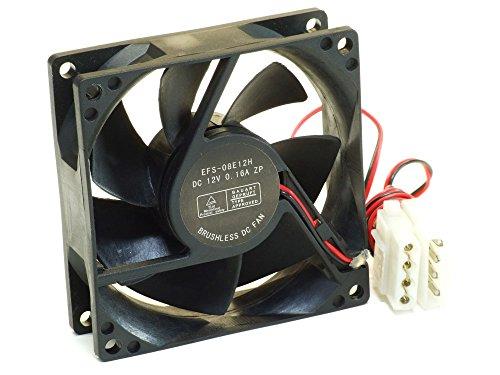Everflow EFS-08E12H 80x25mm Brushless PC Server Cooling Fan DC-12V 0.16A Molex (Generalüberholt)