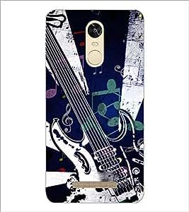 PrintDhaba Guitar D-3905 Back Case Cover for XIAOMI REDMI NOTE 3 PRO (Multi-Coloured)
