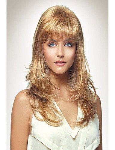 YLE Mode Dame Stil capless arbeiten langen lockigen blonden synthetische Perücke ()