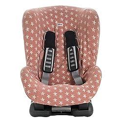 JANABEBE Bezug Universal für Auto-Kindersitz Gr 1 2 3 (Pink Star)