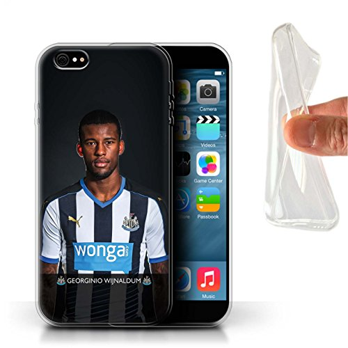 Offiziell Newcastle United FC Hülle / Gel TPU Case für Apple iPhone 6S+/Plus / Pack 25pcs Muster / NUFC Fussballspieler 15/16 Kollektion Wijnaldum