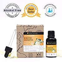 Jasmine Aroma Oil by Soulflower, 100% Alcohol Free, Exotic Natural Fragrance, Blissful Aroma of Snowy White Buds Perfect to Create a Spiritual and Luxurious Ambience, USFDA approved, 1 Fl.Oz