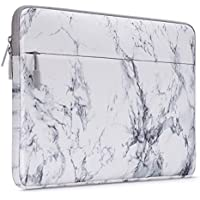 MOSISO Laptop Sleeve Bag Compatible with 13-13.3 Inch MacBook Air, MacBook Pro Retina, Surface Book, Surface Laptop, Protective Chromebook Marble Pattern Carrying Case Cover, White