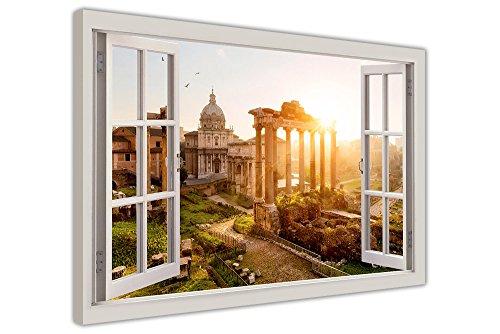 antique-rome-images-3d-effet-fenetre-impression-sur-toile-motif-mur-art-ville-cadre-30-x-38-mm-depai
