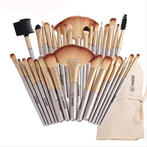 Vander 32pcs Makeup Pinsel Sets With Bag Eye Shadow Eyebrow Highlighter Brush Kits Cosmetic Foundation Pinsel Pincel Maquiagem K-394LG (32pcs Make-up Pinsel Mit Tasche)