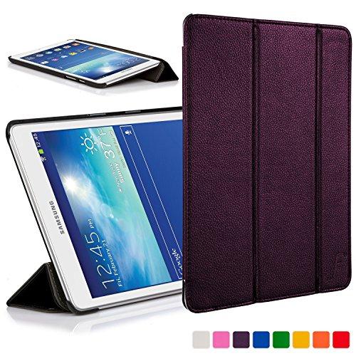 ForeFront Cases® Neue Leder Hülle / Tasche / Case / Cover für Samsung Galaxy Tab 3 Lite 7.0 T110 - Rundum-Geräteschutz und intelligente Auto-Sleep-Wake-Funktion mit 3-JAHRES-GARANTIE VON FOREFRONT CASES (Galaxy Samsung Neues 7 Tablet)