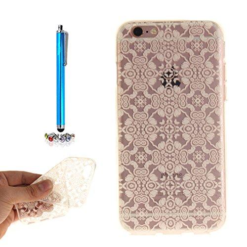 A9H iPhone 6/6S 4.7 Hülle mit Kameraschutz transparent dünne Schutzhülle Case Cover für iPhone 6/6S aus flexiblem TPU -27HUA 04HUA
