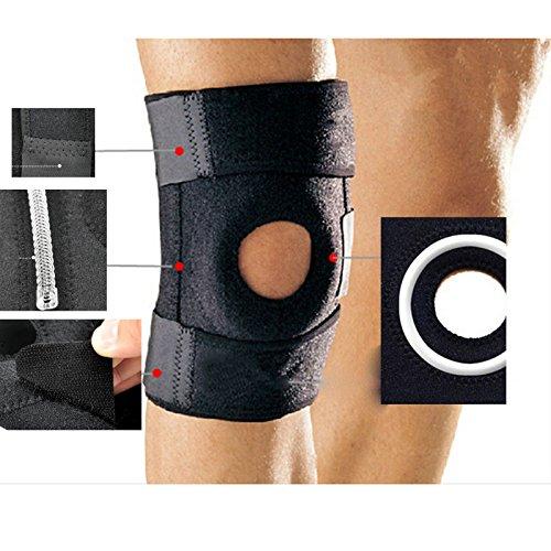 FUNSHOW élastique genou Support Brace Kneepad rotule réglable Knee Pads sangle de garde de sécurité