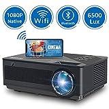 Proyector, FANGOR 6500 Lúmenes Mini Proyector Portatil 1080P Nativo Wi-Fi Vídeoproyector 4K...