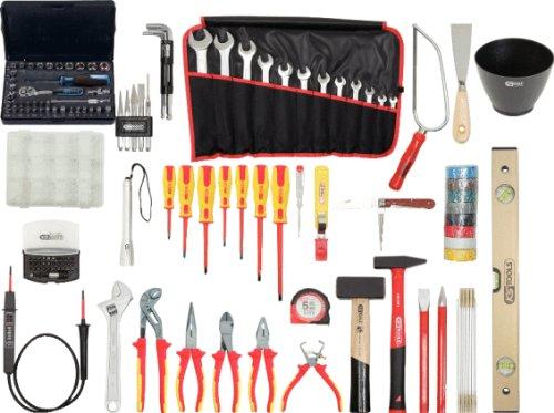 KS Tools 117.0190 Premium Elektriker-Werkzeugkoffer, Nylontasche, 132-tlg.