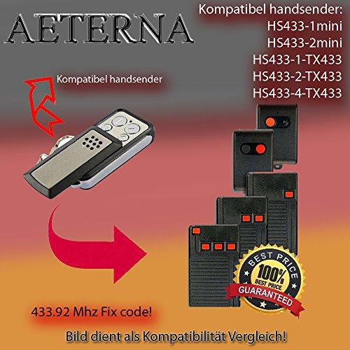 Preisvergleich Produktbild Handsender 433.92 MHz für AETERNA HS433-1mini / HS433-2mini / HS433-1, TX433 / HS433-2, TX433 / HS433-4, TX433 Antriebe