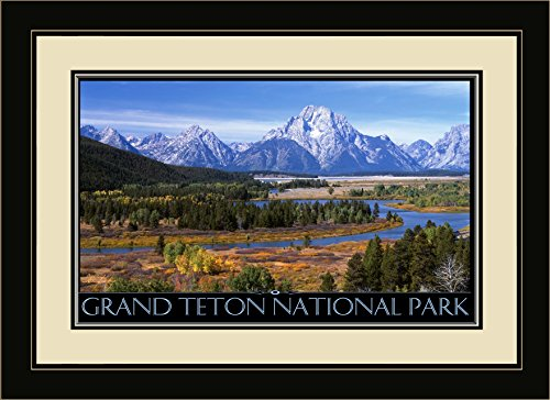 Northwest Art Mall il-2760 mfgdm Grand Teton National Park gerahmtes Wandbild Art von IKE Leahy, 13 von 40,6 cm