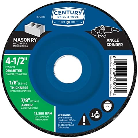 Century Drill and Tool 75503 4 1/2-Inch X 1/8-Inch Masonry Wheel by Century Drill & Tool