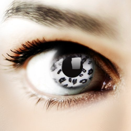 ColourVUE Crazy Lens White Leopard Yearly Disposable 14 mm Contact Lens