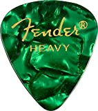 Fender 351 Classic Celluloid Picks 12-Pack (Assorted Colours)Green Moto (Heavy)