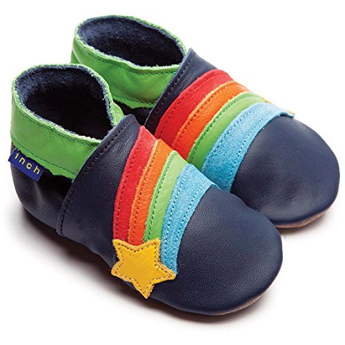 inch-blue-boys-baby-luxury-leather-soft-sole-pram-shoes-rainbow-star-navy-large-clear-bag