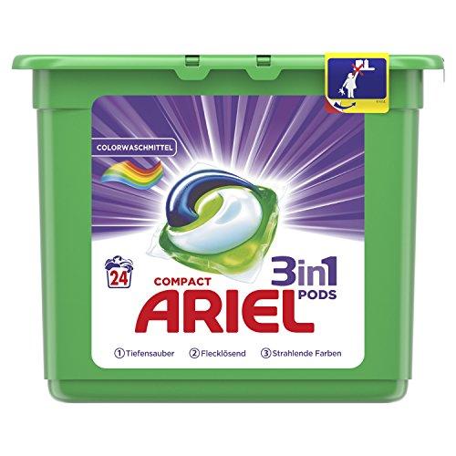 Ariel Unterwäsche (Ariel 3in1 PODS Colorwaschmittel, 24Waschladungen)