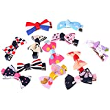 #4: Magideal 12 Piece Kids Girls Ribbon Bow Bowknot Hair Clips Barrette Hair Accessories