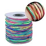 LeKing Corde di Cotone incerate Corde Corde per Fai da Te Fatto a Mano Braccialetto Braccialetto Artigianale