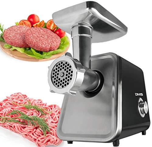 2000 W elektrischer Fleischwolf Fleisch Fleischwolf & Wurstmaschine Profi Nahrungsmittelmaschine Zerkleinerer Wurstfüllanlage & Kebbe Rückwärtsfunktion Metallgetriebe, 3 Lochscheiben DMS®