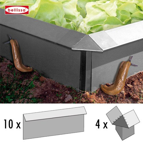 Gartenwelt Riegelsberger 14-teilig SET, 10x Schneckenblech + 4x Eckteil