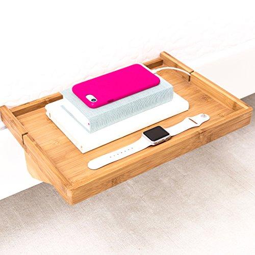 BedShelfie   Moderner Bambus Nachttischregal Nachttisch / Platzsparender,  Verstellbarer Schwimmender Nachttisch Für Kleine.